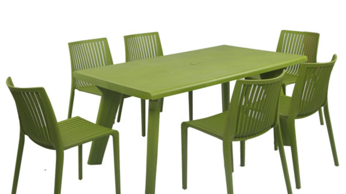 Supreme Bison 9 Seater Dining Table Set with Chairs