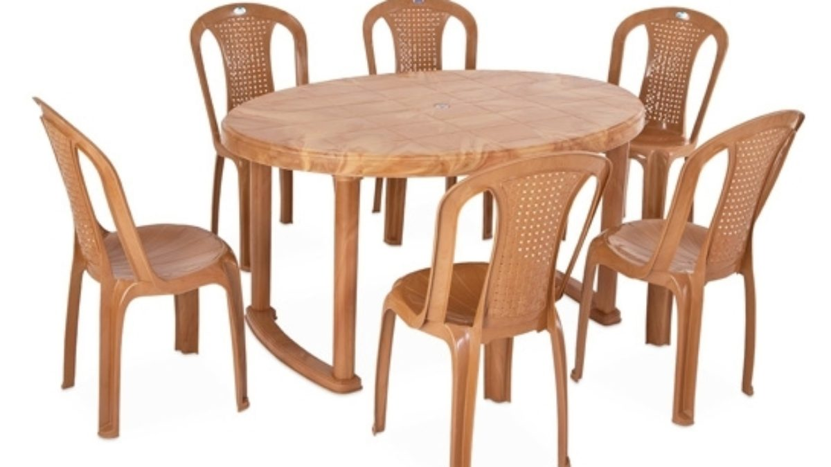 Nilkamal Round Dining Table Set 9 Seater with Chairs